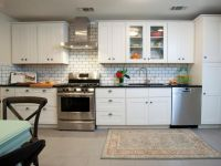 contemporary white kitchen with subway tiles - Home ...
