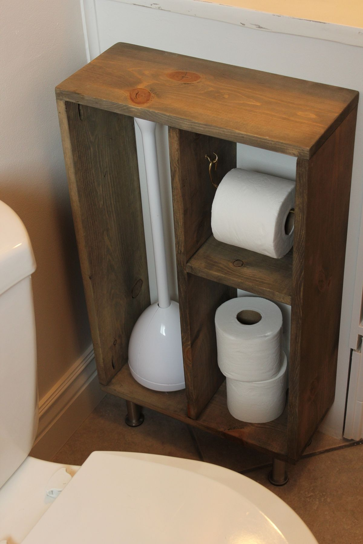 Concealed Toilet Paper Holder Diy Simple Brass Toilet Paper Holder