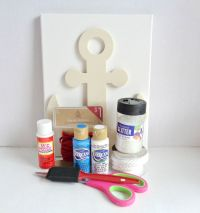 DIY Nautical Anchor Wall Art