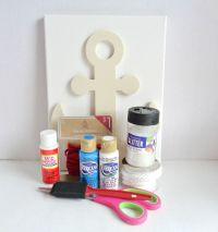 DIY Nautical Anchor Wall Art