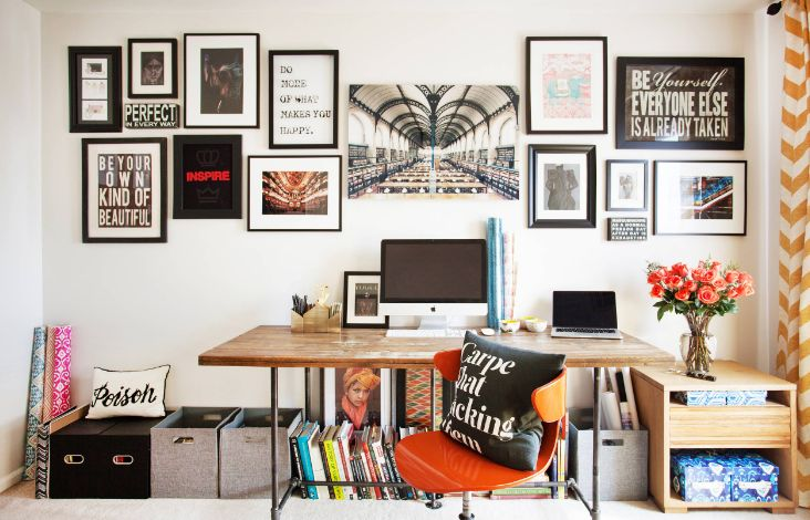 Elegant Desks For Home Office Wall Collage For Office With Frames - Home Decorating