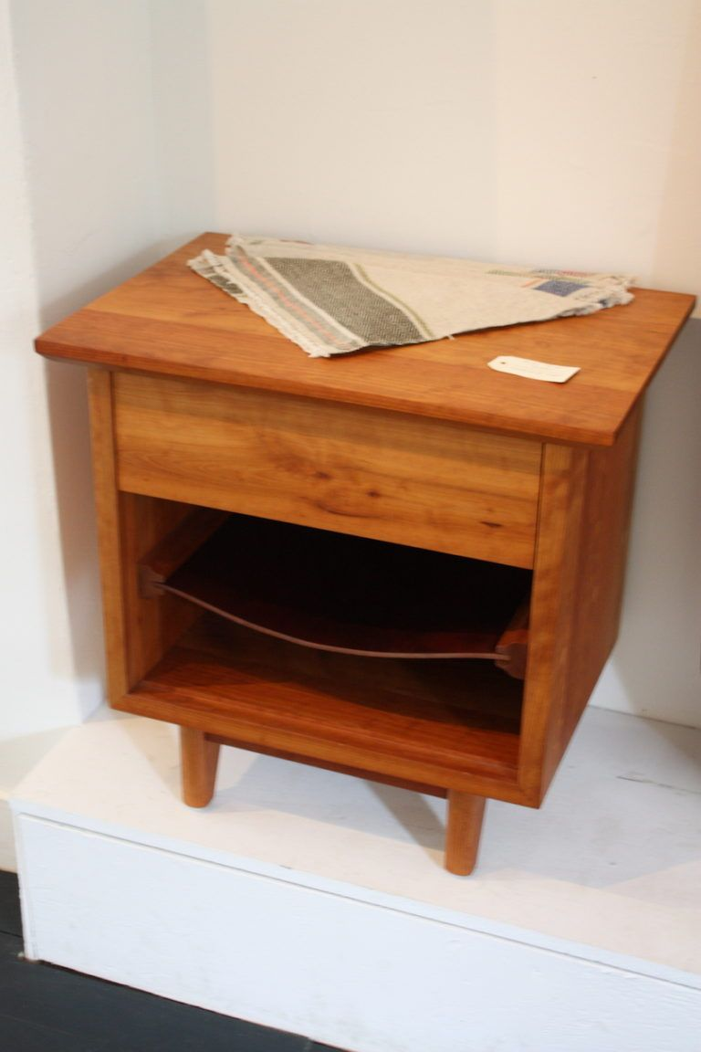 We were loving this Barton Side Table. mainly because of its saddle leather magazine shelf. The zero-hardware, dovetailed drawer is a design bonus, adding to the clean look of the piece.
