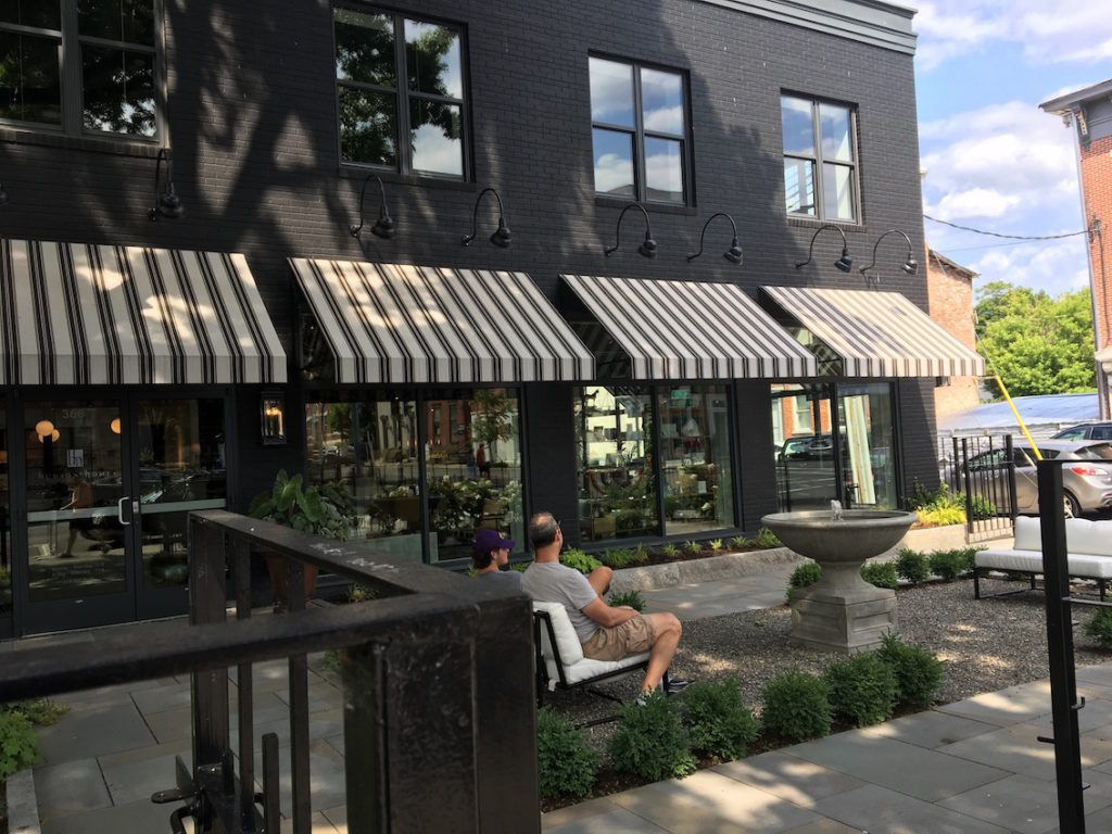 The exterior of the store is equally pleasing, and perfect for a breather as you work you way down the street full of design delights.