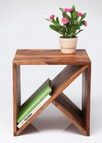 Wood side table with magazine rack - Home Decorating ...