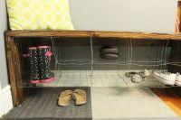 DIY Industrial Entry Shoe Bench