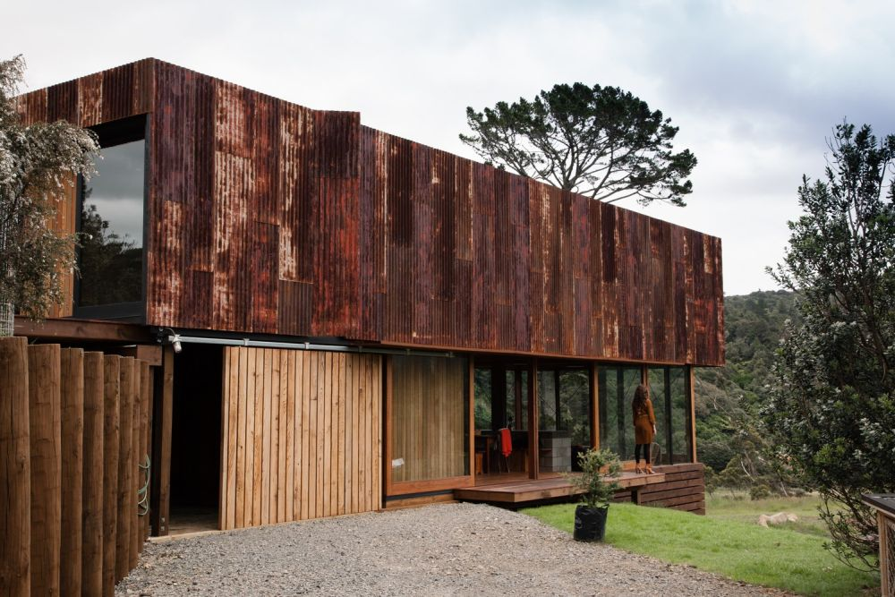 3d Brick Wallpaper South Africa Gorgeous Corten Facades That Gracefully Withstand The Test