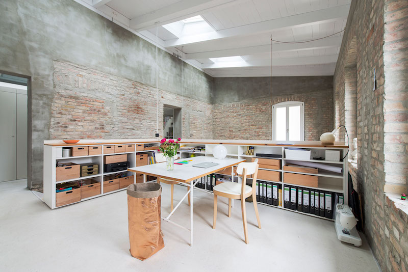 Home Office Berlin Old Heritage Building Remodeled Into A Contemporary Home