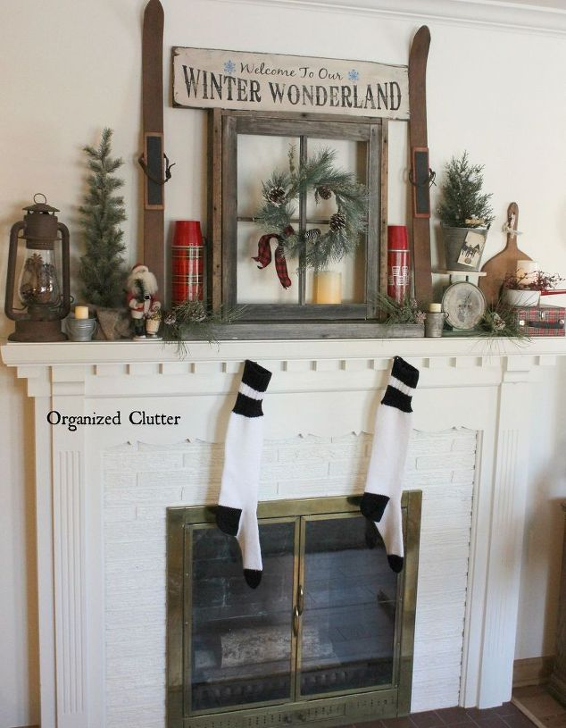 50 Christmas Mantles For Some Serious Decorating Inspiration - christmas decorations for mantels