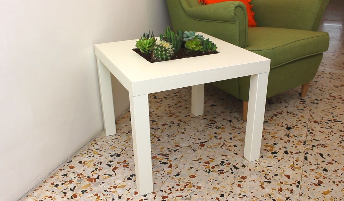 Expandable Table Add A Planter Feature To Your Ikea Lack Table