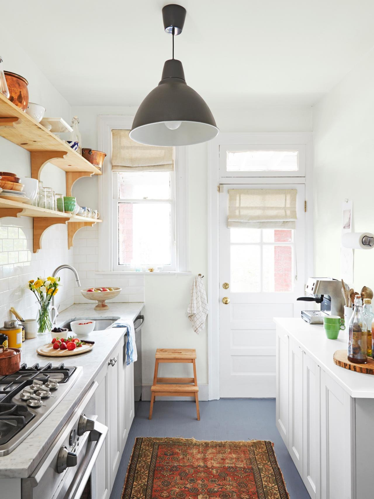 Birch Cabinets For Small Kitchen 15 Ways To Bring Personality Into Your Galley Kitchen