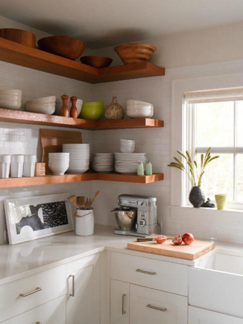 Wondrous Ways To Diy Shelves Rustic Oak Floating Shelf interior Rustic Floating Corner Shelves