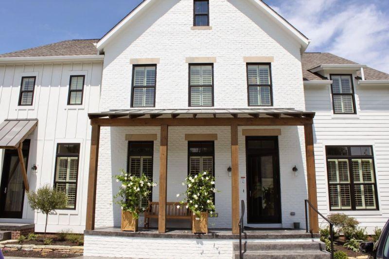 Large Of White Brick House