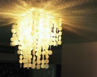 DIY Faux Capiz Shell Pendant Light - Chandelier