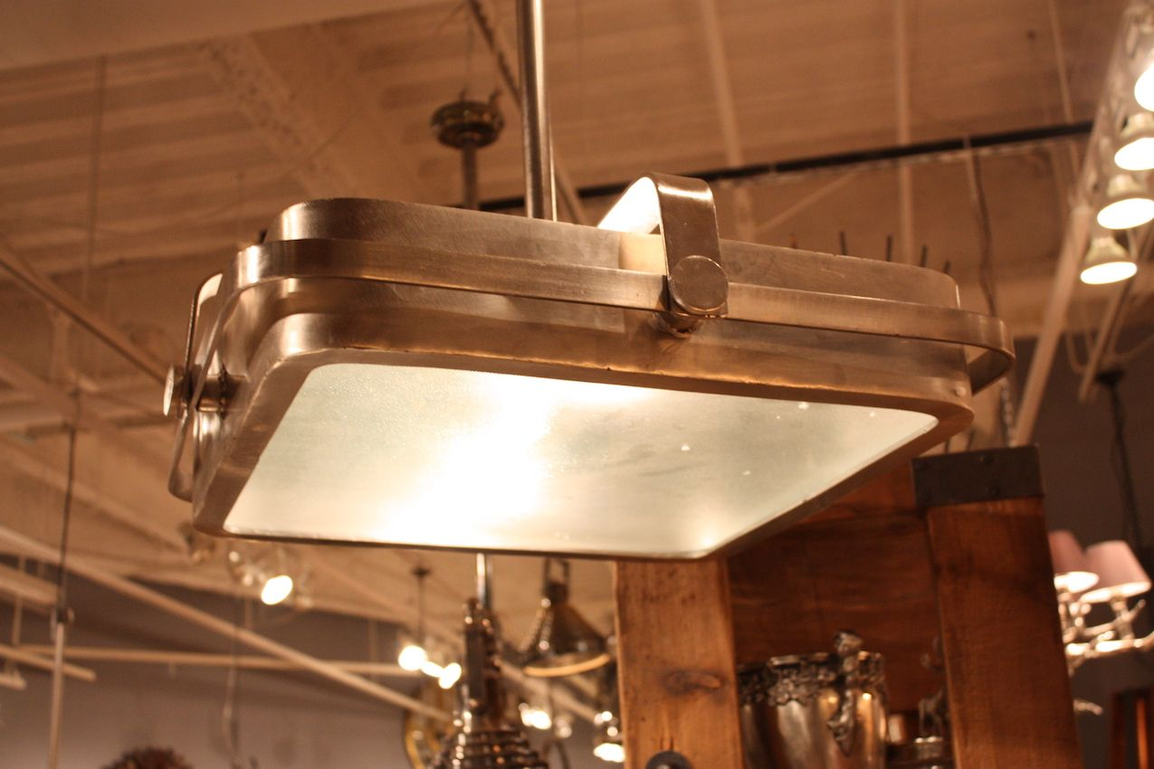 Industrial Decor Lighting Rectangular Lighting Fixtures Add Geometric Dimension To Decor