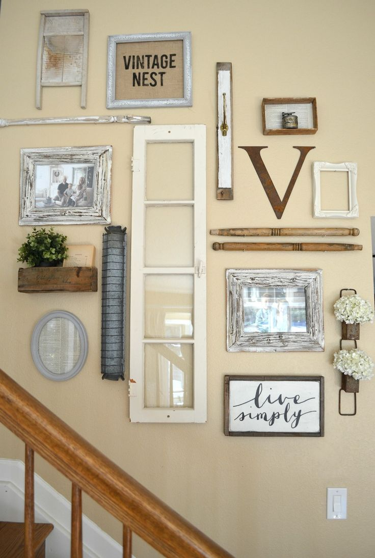 Admirable Stairwell Gallery Wall Pieces Farmhouse Decor To Use All Around House Farmhouse Wall Decor Around Tv Farmhouse Wall Decor Ideas curbed Farmhouse Wall Decor