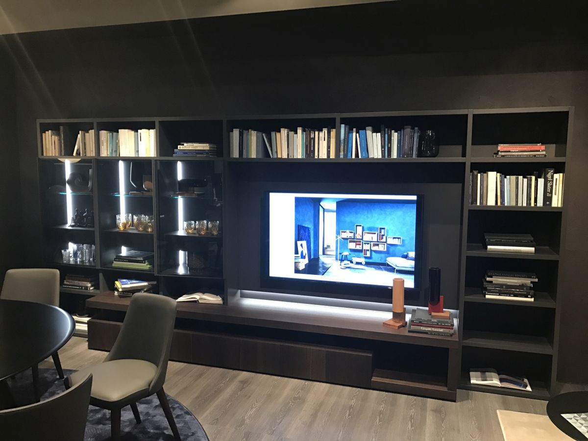 Living Room Wall Unit How To Make Books Look Natural On Shelves Solving The