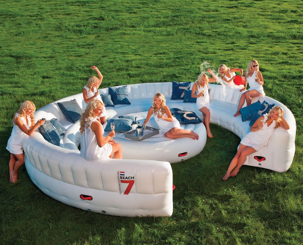 Big Inflatable Couch Get A Jump On The Inflatable Couch Trend For An Awesome Summer