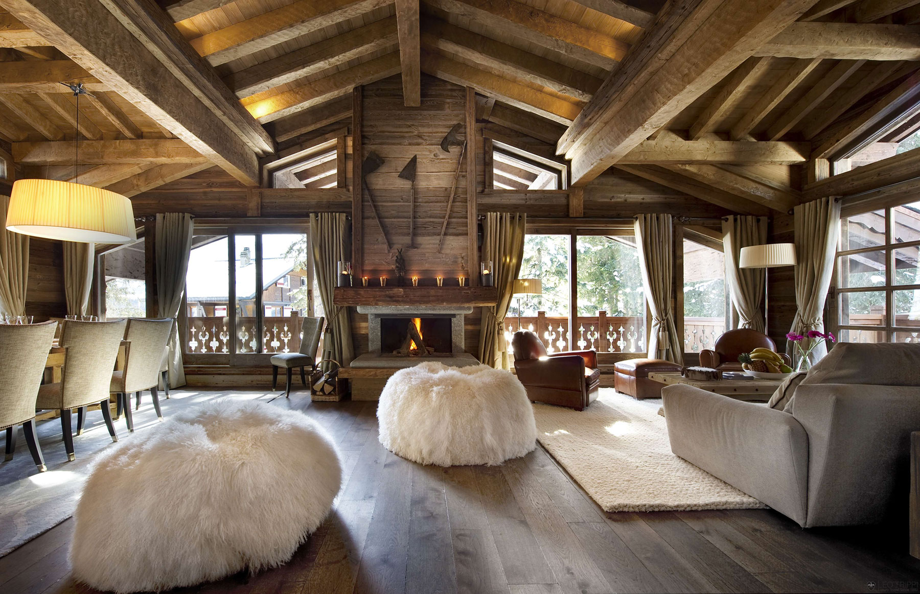 Deckengestaltung Loft The Chalet Les Gentianes 1850 In Courchevel The French Alps