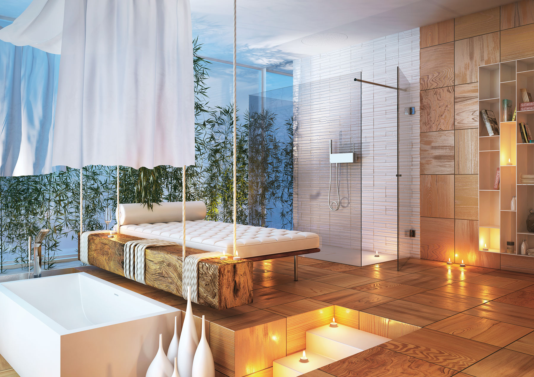 Badezimmer Wellness-atmosphäre Modern Bathrooms By Moma Design