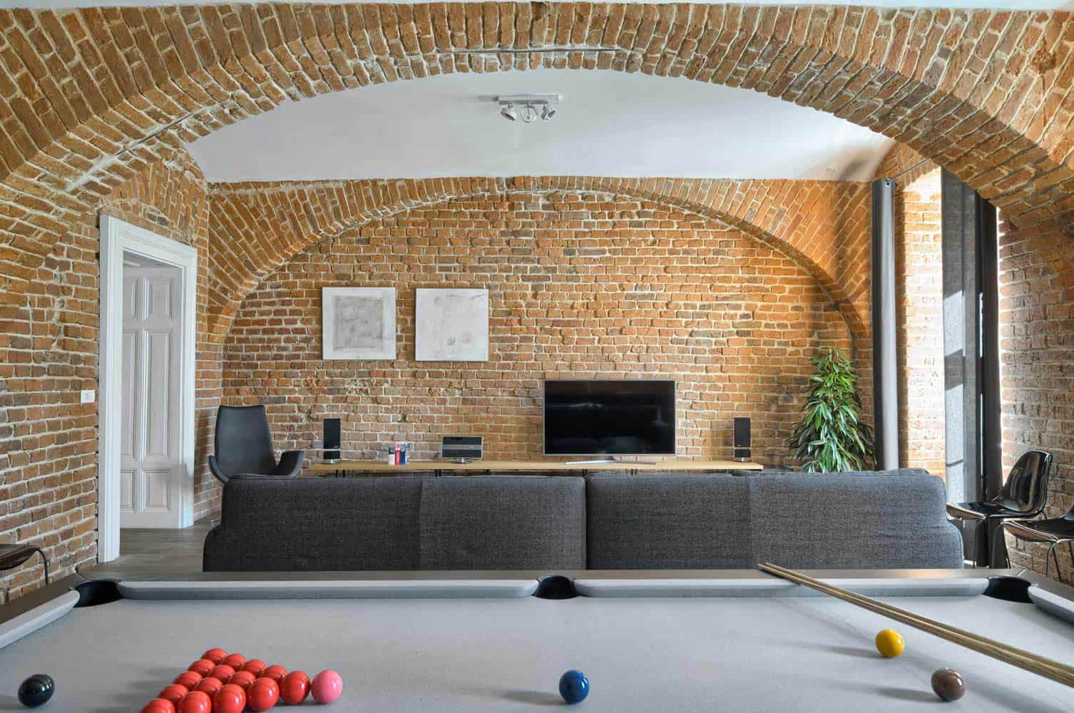 Apartments With Exposed Brick Warm Apartment With Exposed Brick Walls Designed By