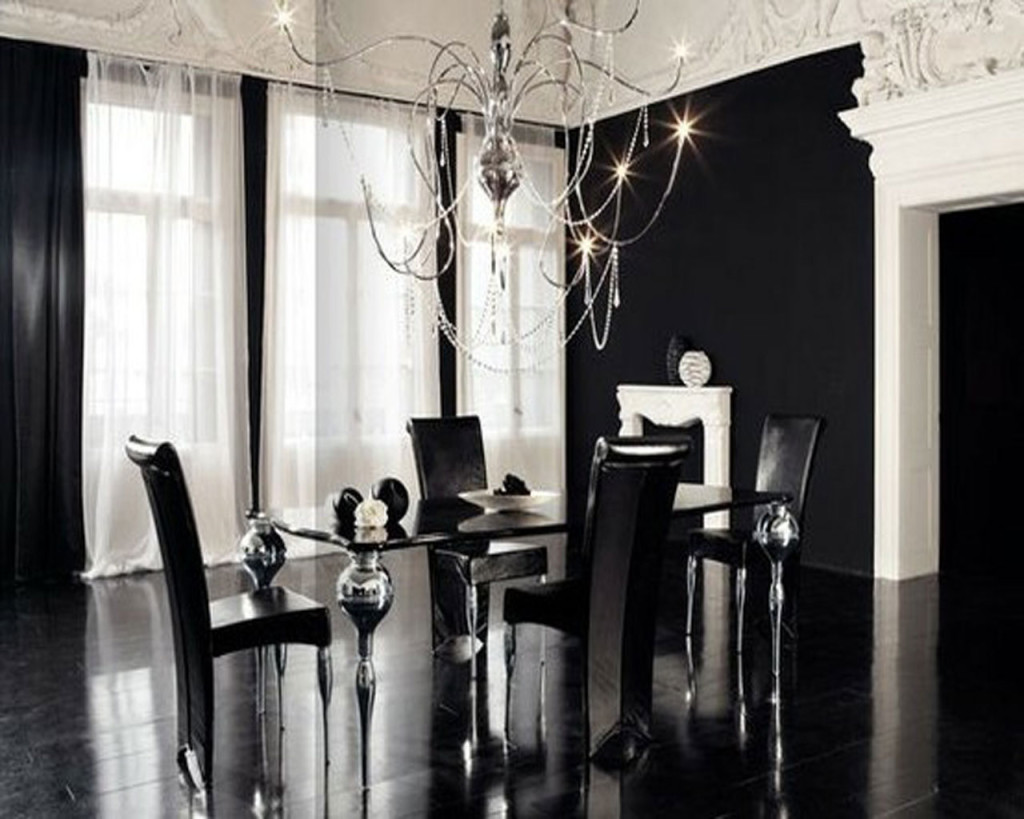 Dining Room Black And White Black And White Contemporary Interior Design Ideas For