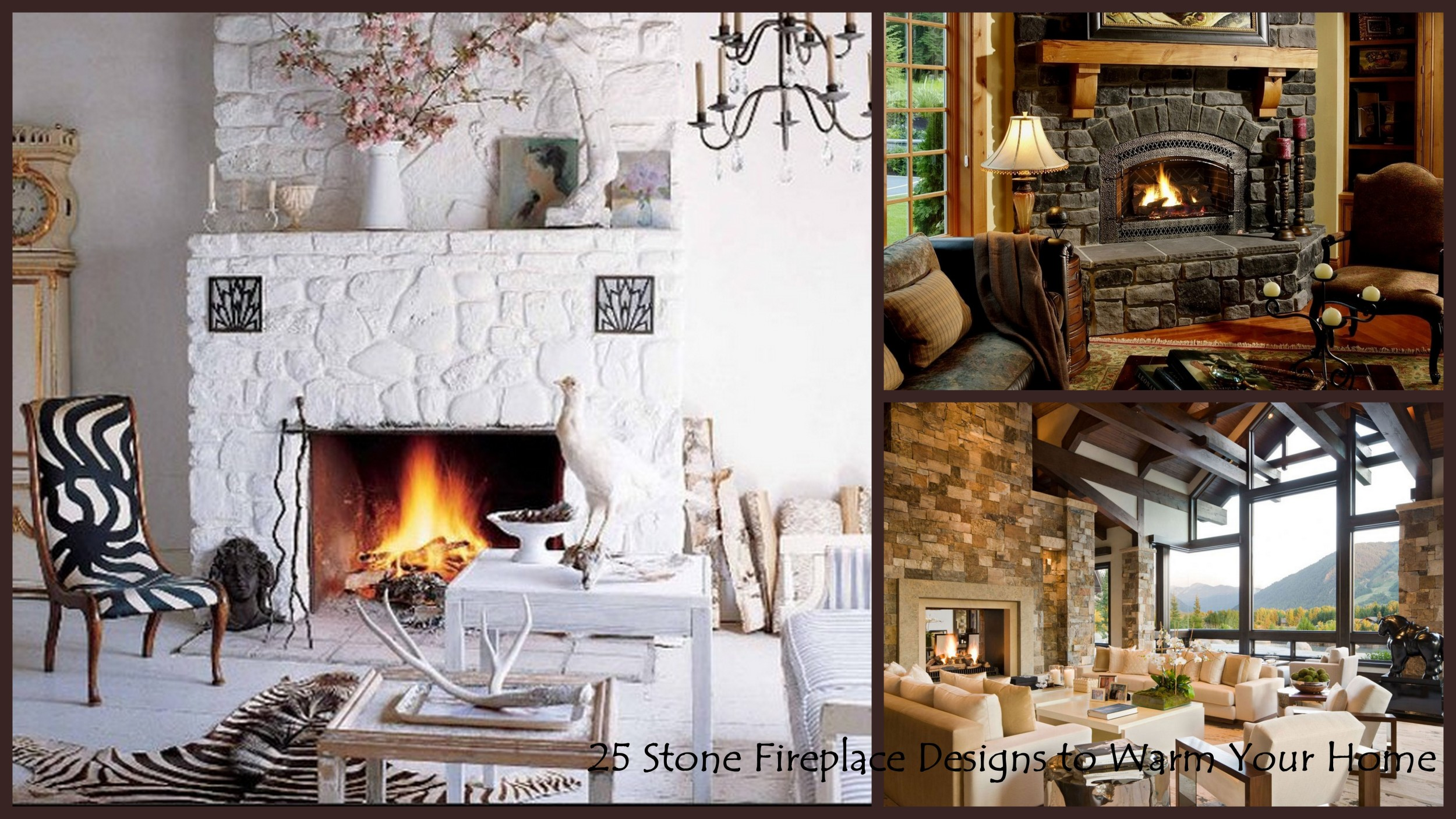 Fire Stones For Fireplace 25 Interior Stone Fireplace Designs