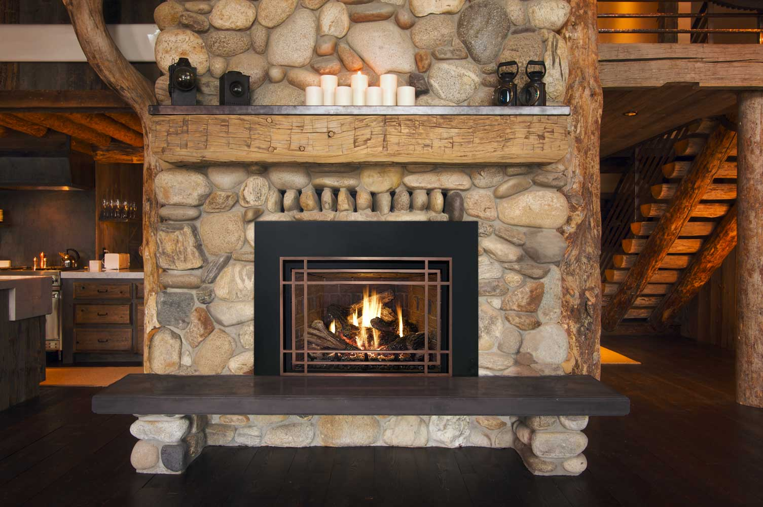 Design Fireplaces 25 Interior Stone Fireplace Designs