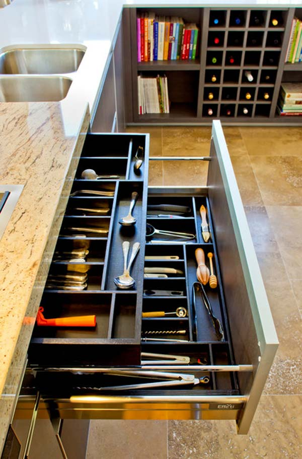 diy cutlery storage solution projects declutter kitchen simple diy kitchen organizing storage ideas decozilla