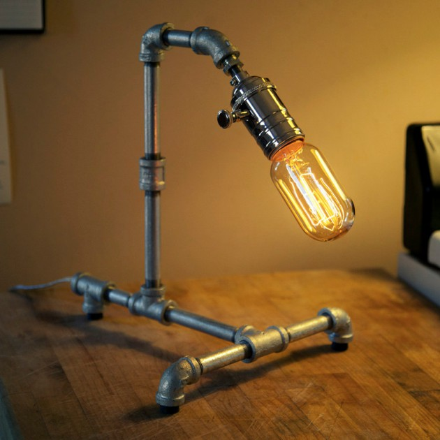 Deckenleuchte Rustikal 16 Sculptural Industrial Diy Pipe Lamp Design Ideas Able