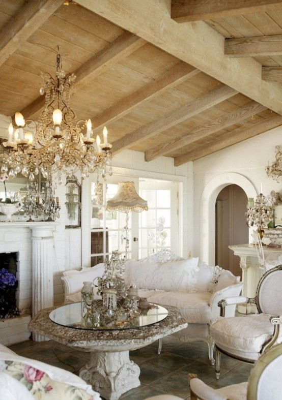 Top 18 Dreamy Shabby Chic Living Room Designs - country chic living room