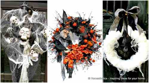 Splendent Creepy Halloween Wreath Designs To Realize Spooky Creepy Halloween S Creepy Halloween S To Color 15 Mysterious Chilling