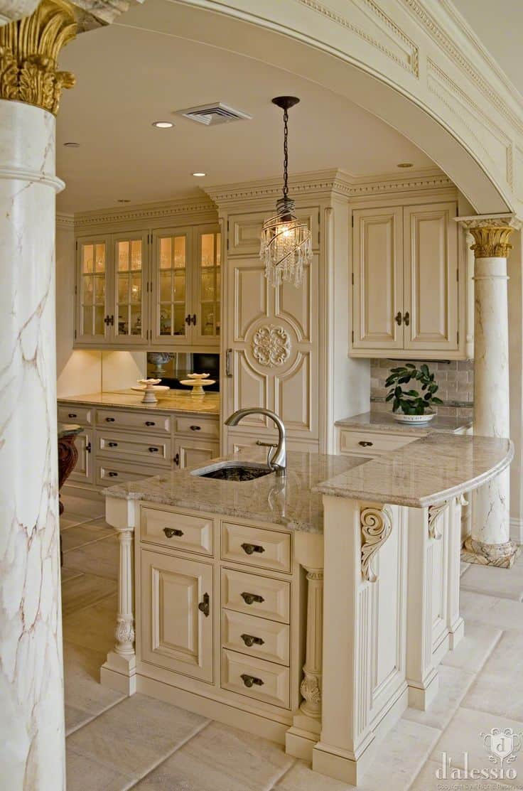 French Country Kitchen Backsplash 30 Gorgeous Kitchen Cabinets For An Elegant Interior Decor