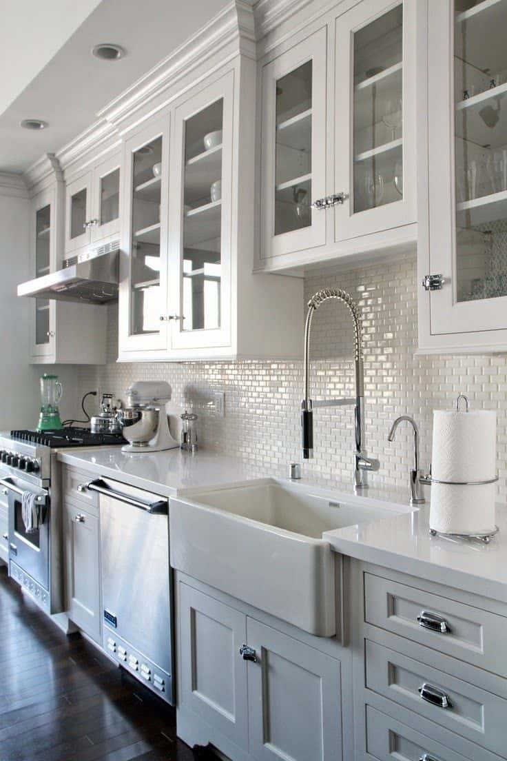 30 Gorgeous Kitchen Cabinets For An Elegant Interior Decor Part 2 Glass Cabinets 13