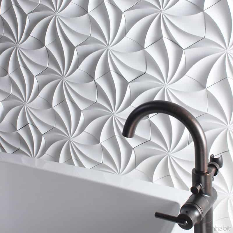 3d Silver Grey Wallpaper 25 Spectacular 3d Wall Tile Designs To Boost Depth And