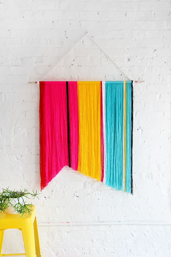 colorful wall hangings