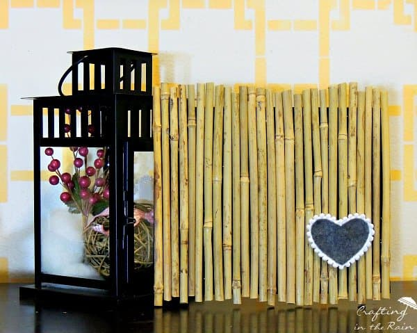 Decorative String Lights Infuse An Asian Vibe With Diy Bamboo Wall Decor