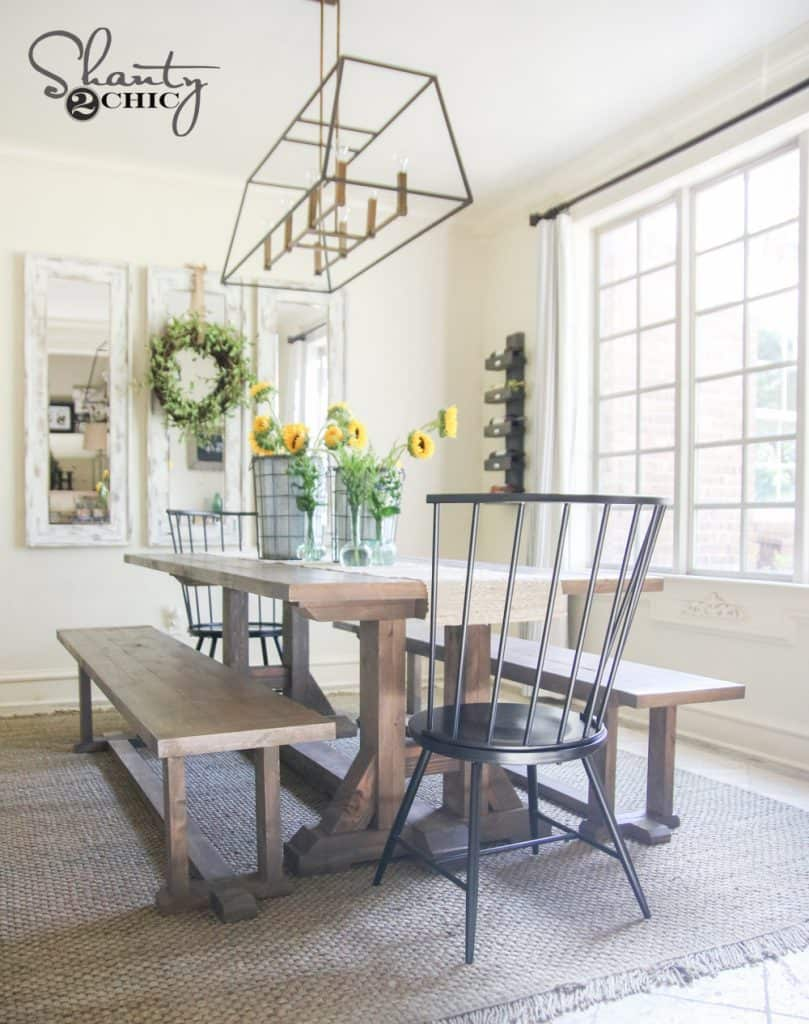 53 Free Diy Farmhouse Table Plans For A Rustic Dinning Room