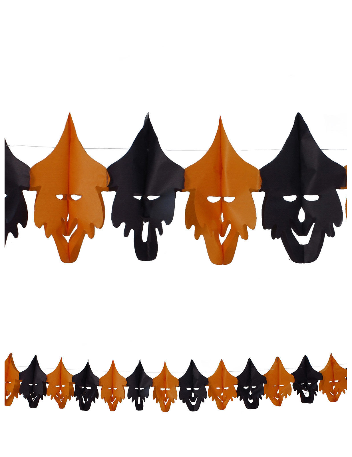 Deko Hexen Lachende Hexen Girlande Halloween Party Deko Orange Schwarz 400x20cm