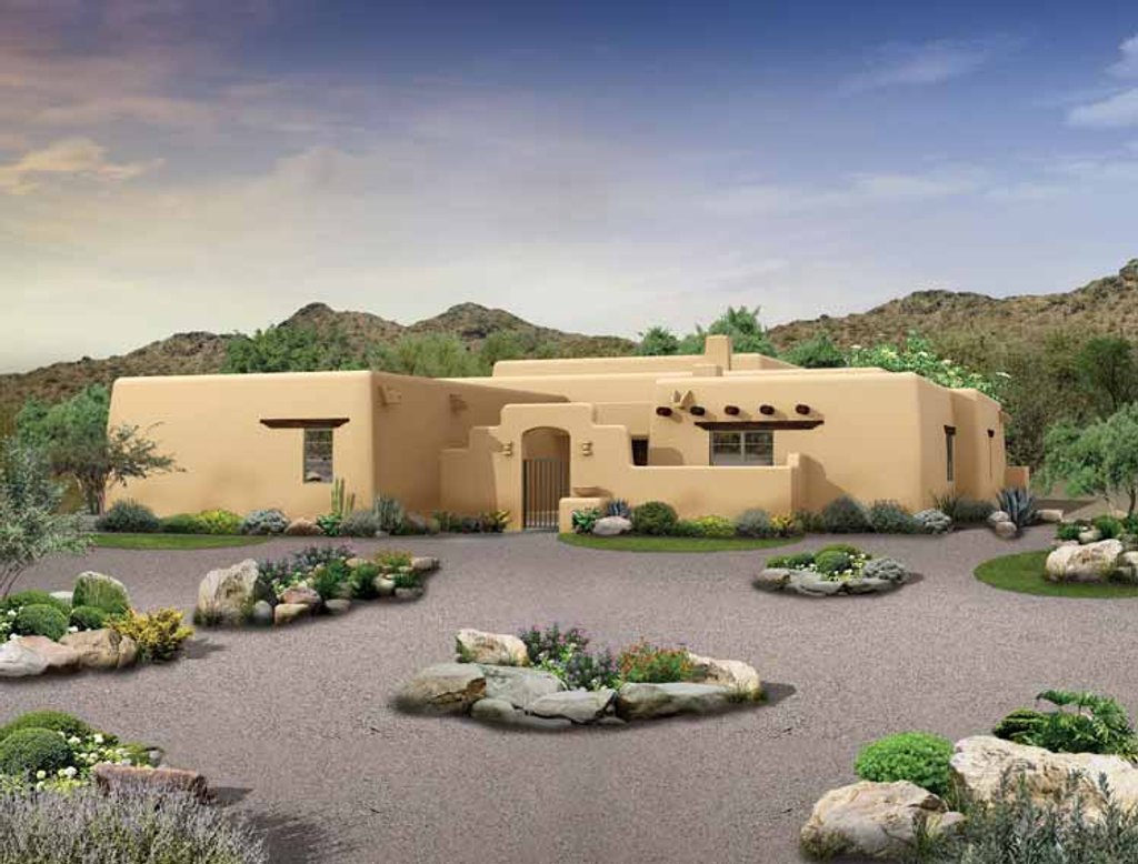 Adobe Home Design Adobe Southwestern Style House Plan 3 Beds 2 5 Baths