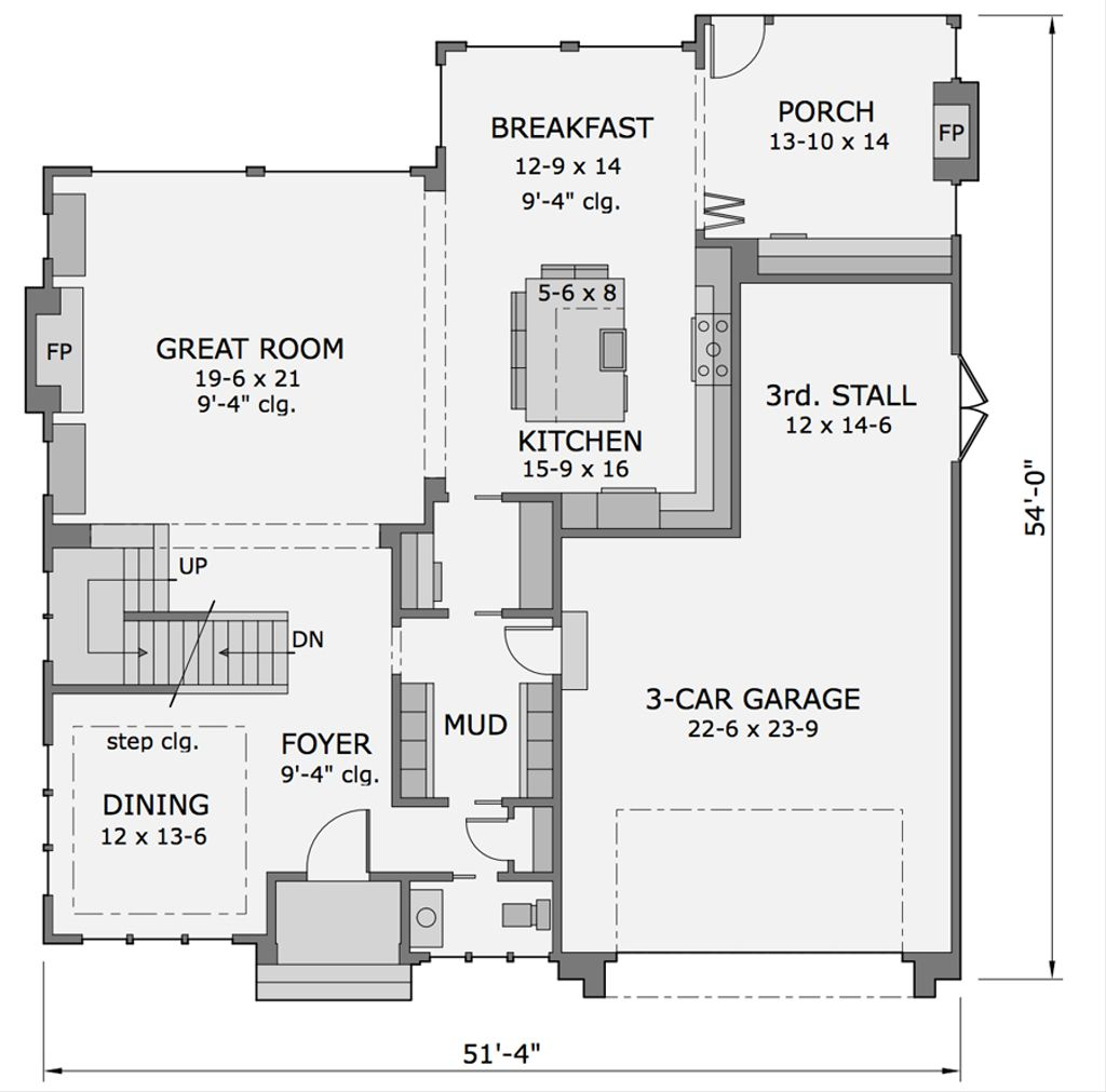 Tandem Garage House Plans Craftsman Style House Plan 4 Beds 3 5 Baths 3553 Sq Ft Plan 51 565