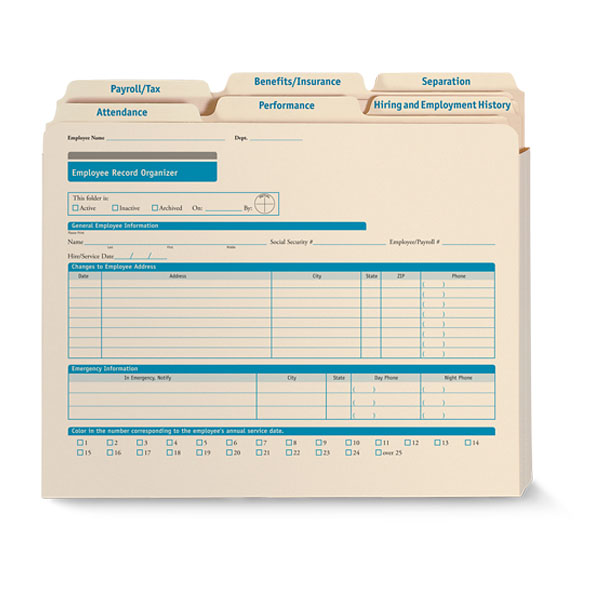 Employee Record Organizer All-in-One Recordkeeping Solution