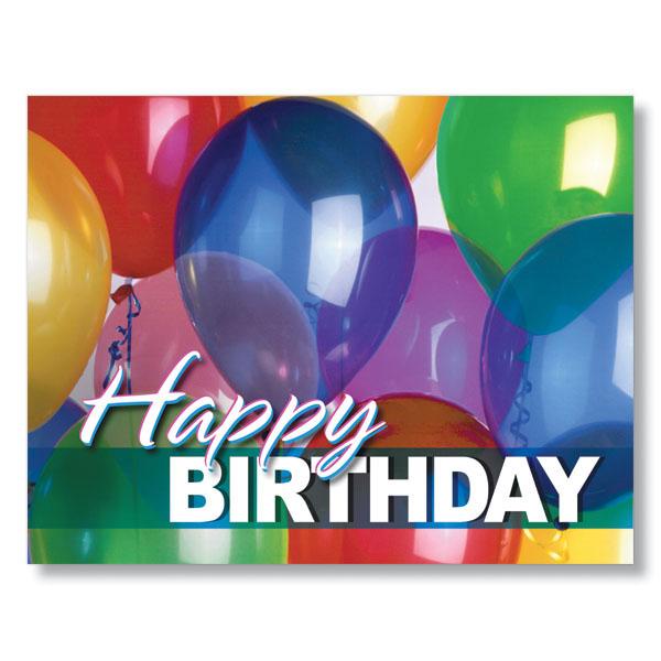 Bright Balloons Birthday Cards for Employee Birthdays