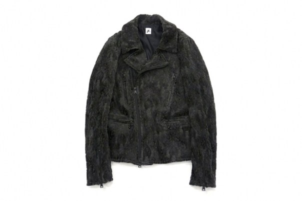 S'yte 2012 Fall/Winter Textured Suede Riders Jacket