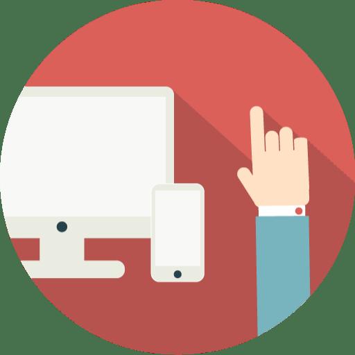 cv en ligne flat design icon