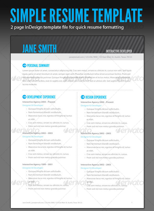 15 Photoshop  InDesign CV/Resume Templates Photoshop iDesignow