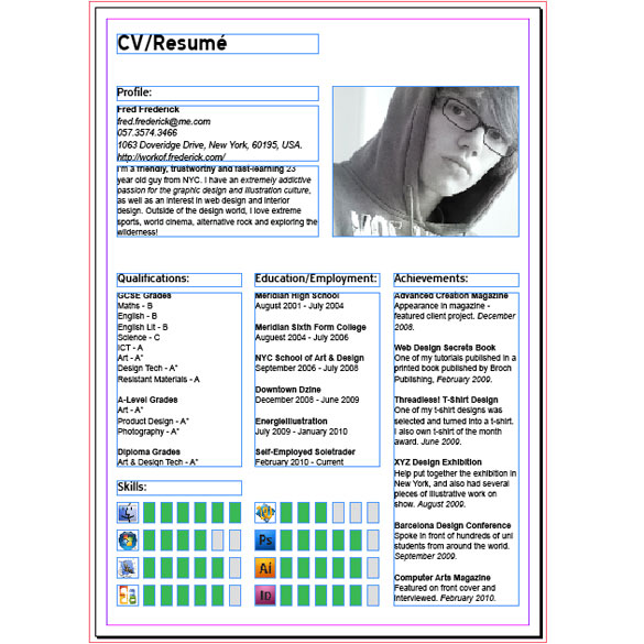 cv indesign tutorial