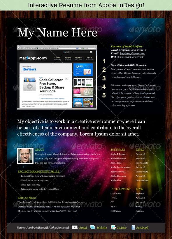 Interactive Resumes Image collections - resume format examples 2018