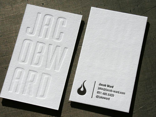 25 Clean  Elegant Letterpress Business Cards Business Card