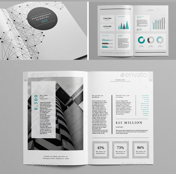 20 Best InDesign Annual Report Templates print iDesignow - annual report template design