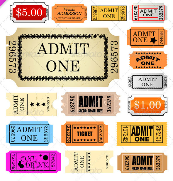 25 Awesome Ticket Template Designs print iDesignow - admit one ticket template